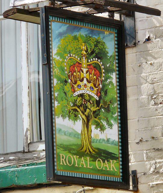 Sign for the Royal Oak