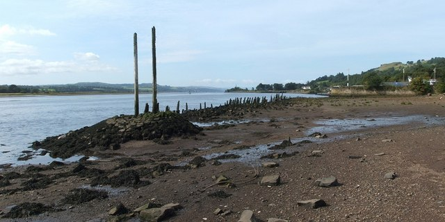 Remains of the Old Wharf at Bowling