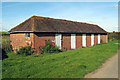 TQ7638 : Hopper Huts at Hazelden Farm, Marden Road, Cranbrook, Kent by Oast House Archive