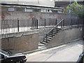 TQ2278 : Stairway in Leamore Street by PAUL FARMER