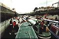SJ6387 : Inland Waterways Association's flotilla in the smaller of the Latchford Locks by David Long