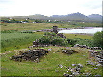 NC0206 : Broch and ruined cottage, Achlochan by Gordon Hatton