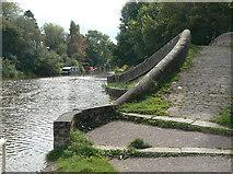 SJ9585 : High Lane Arm bridge by Alan Murray-Rust