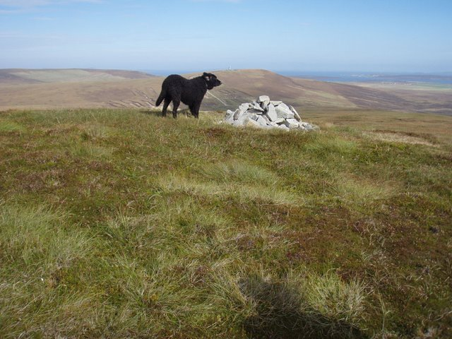 The summit of Cairn Hill