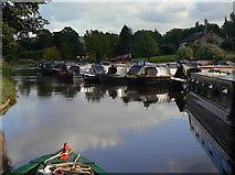 SK0083 : Furness Vale marina by Alan Murray-Rust
