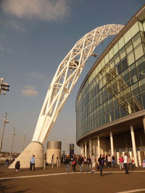 Wembley: the foot of the arch