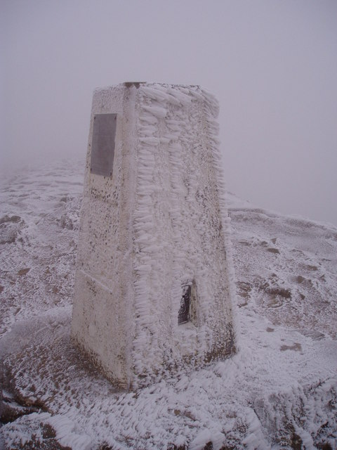 The Trig Point, The Sugar Loaf, 1st January, 2009.