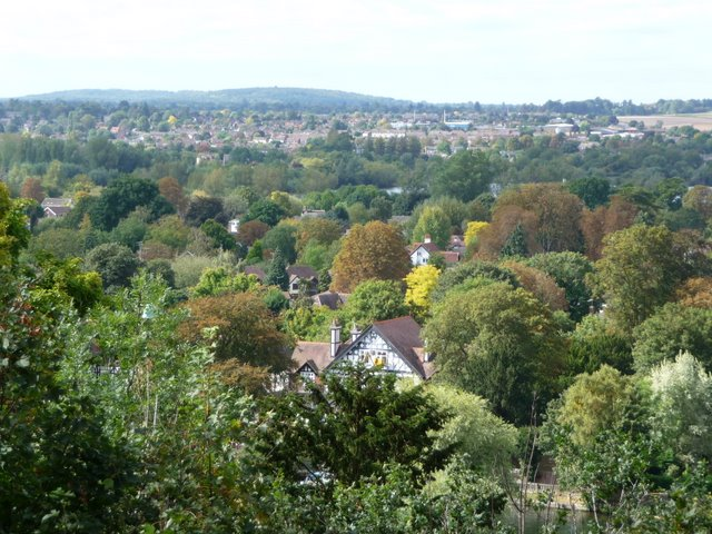 View From South end of Cliveden Woods across to Knowl Hill