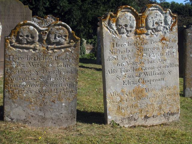 Creepy Headstones at St Peter & St Paul's Church