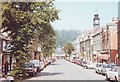SN9584 : Looking towards the Market Hall, Llanidloes, Wales by nick macneill