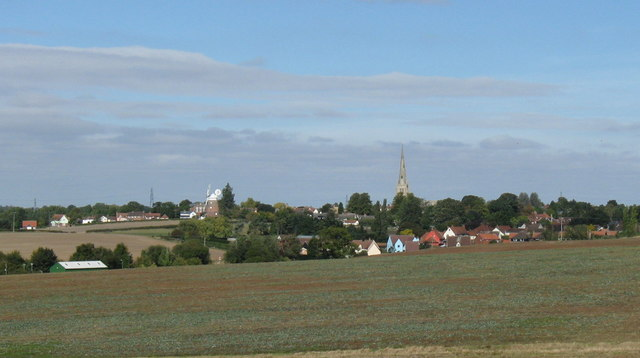 Thaxted, from the southern approach road