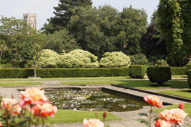 View of Kingsnorth Gardens in Folkestone, Kent