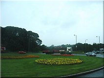 H6257 : The Ballygawley Roundabout by Eric Jones