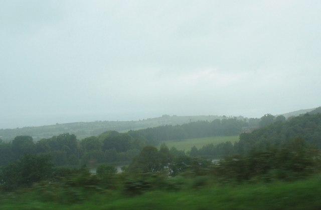 Martray Lough from the A4 on a misty day