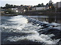 NX9676 : Weir at dusk, Dumfries. by Colin Pyle