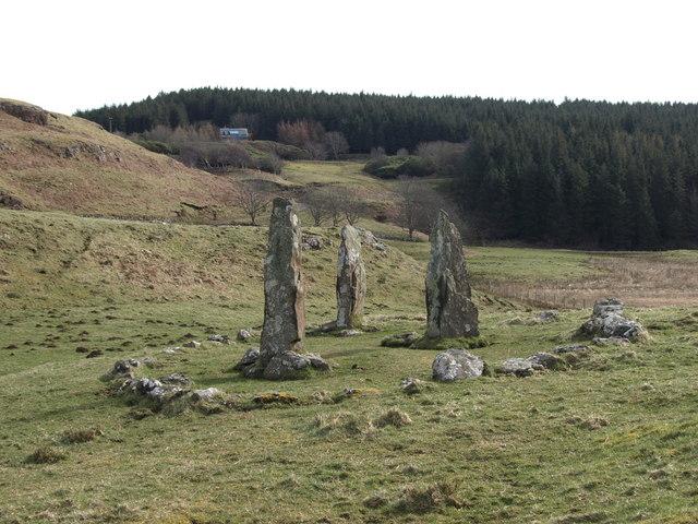 Isle of Mull glengorm's standing stones