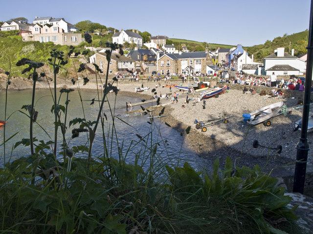 Little Haven beach during Havens' Week service