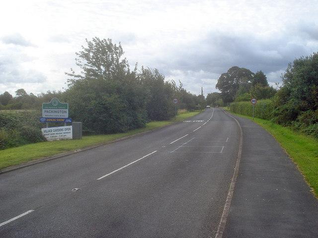 Entering Packington