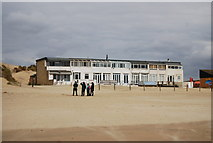 TQ9618 : Beach front houses, Camber Sands by N Chadwick