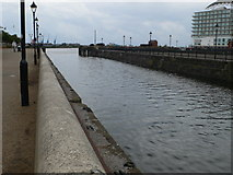 ST1974 : Dock next to Techniquest in Cardiff Bay by Eirian Evans