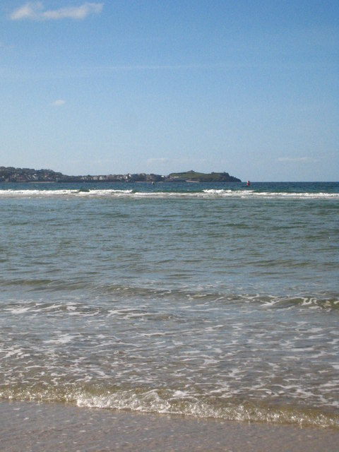 The mouth of the Hayle Estuary