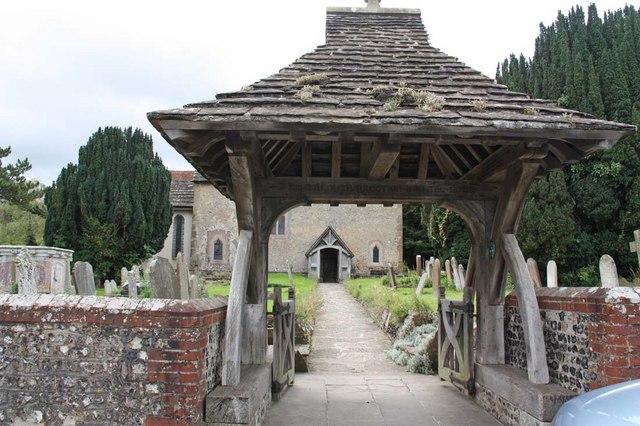 St John the Baptist, Clayton, Sussex - Lych gate by John Salmon