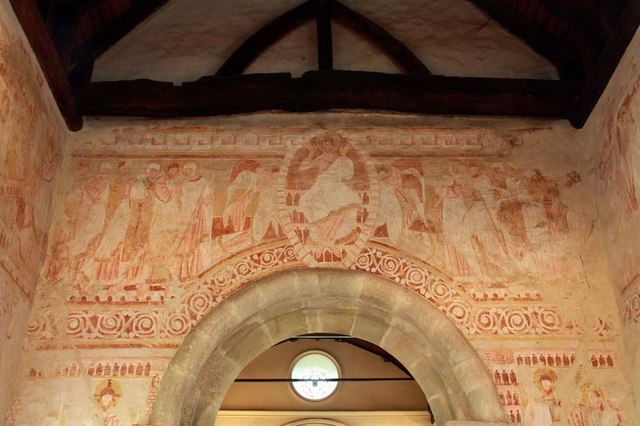 St John the Baptist, Clayton, Sussex - Wall painting by John Salmon