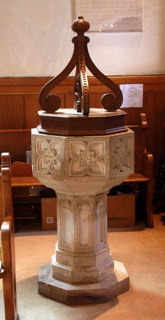 St John the Baptist, Clayton, Sussex - Font by John Salmon