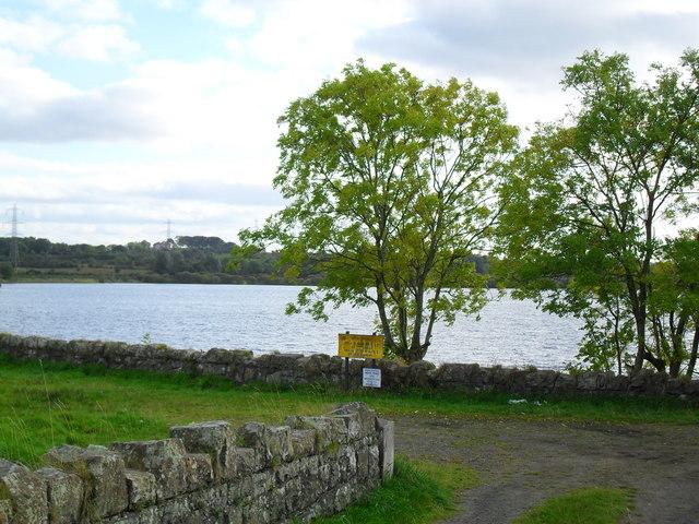Entrance to Stoneyford Reservoir