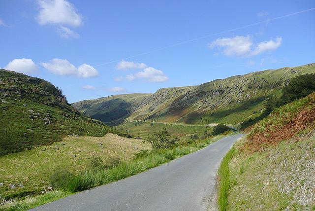 Mountain road to Tregaron, Cwm Irfon, Powys