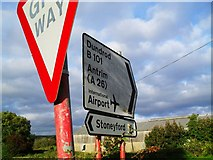 J2369 : Signs at Mullaghglass by Dean Molyneaux