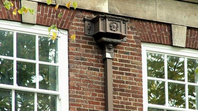Drainpipe and windows, Belfast