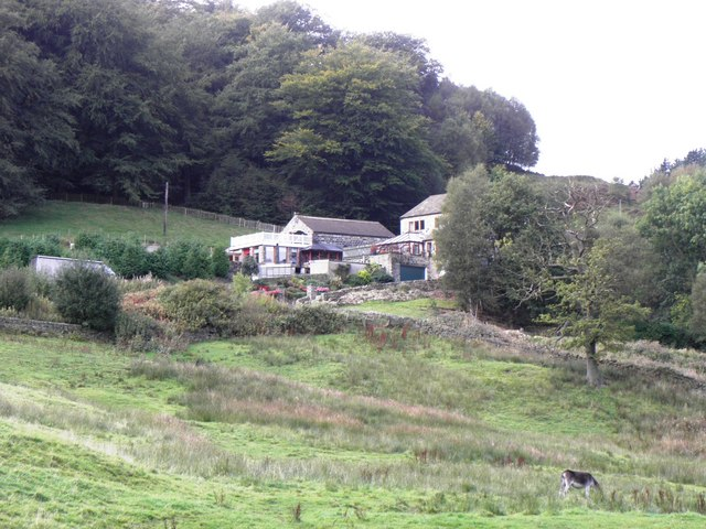 House seen from the valley bottom footpath