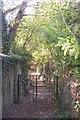 TQ7040 : Kissing gate and footbridge near Horsmonden by David Anstiss