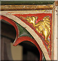 TM4198 : The church of All Saints - rood screen (Thurlton Dragon) by Evelyn Simak