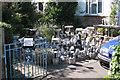 TQ2743 : Garden gnomes for sale, Lee Street, Horley by Robin Stott