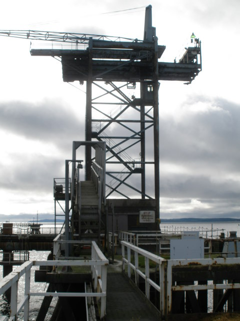 Crane and Gangway on Inverkip Power Station Pier