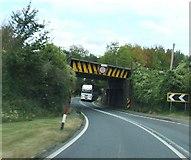 SO6913 : Railway Bridge over A48 at Broadoak by norman hyett
