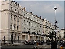 TQ2879 : North-west terrace of Belgrave Square by Stephen Richards