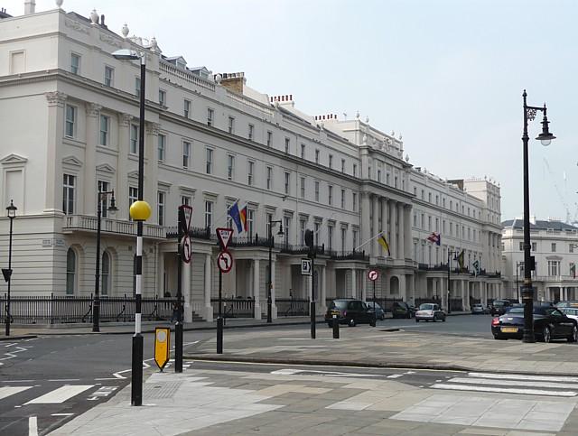 South-west terrace of Belgrave Square