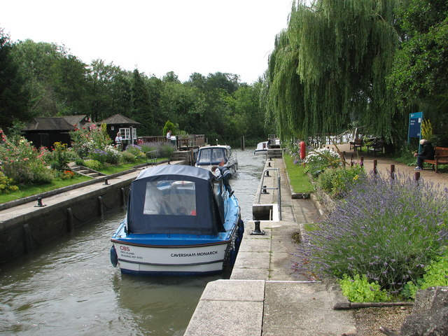 Boats Leaving Iffley Lock