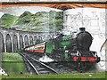 NS5766 : Mural, Kelvingrove Park. 5 - Glenfinnan Viaduct by Richard Webb