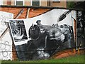 NS5766 : Mural, Kelvingrove Park. 6 - Strathspey Railway by Richard Webb