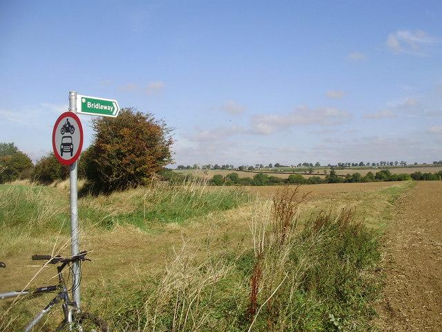 Bridleway looking to Brampton Valley Way