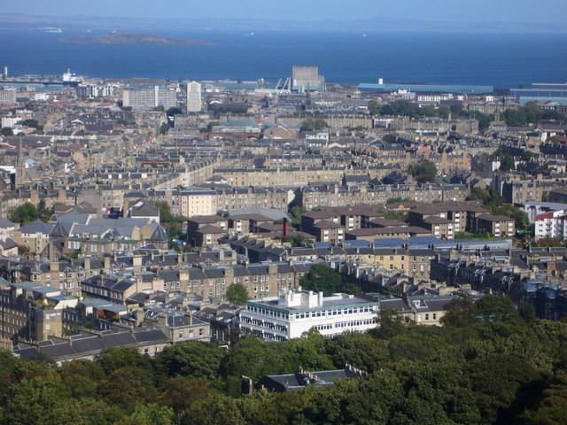 Nelson Monument view towards Leith