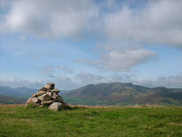 The summit cairn of Great Mell Fell