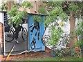 NS5766 : Mural, Kelvingrove Park. 7 - bicycles by Richard Webb