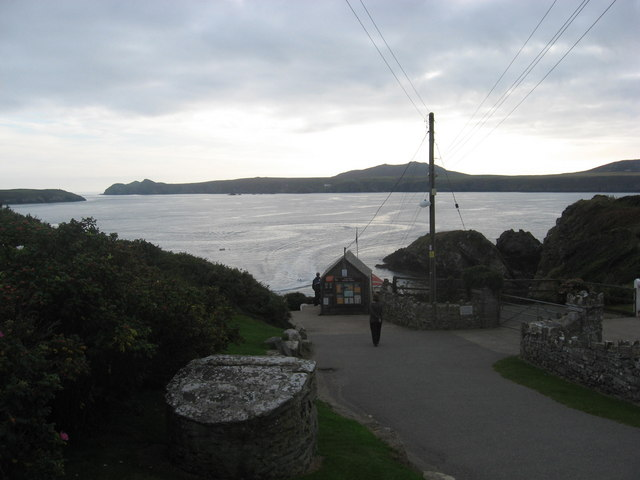 St Justinian's Well and harbour