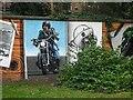 NS5766 : Mural, Kelvingrove Park. 9 - Hairy biker by Richard Webb