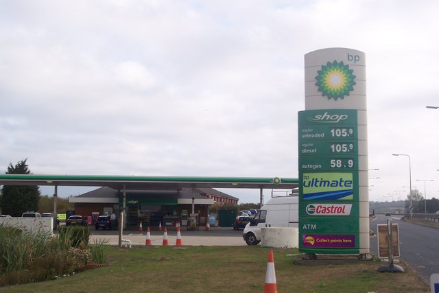 BP Petrol Station beside the A299 Thanet Way
